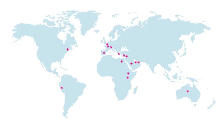 Vibrant lab reach map
